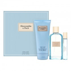 comprar perfumes online ABERCROMBIE & FITCH FIRST INSTINCT BLUE WOMAN EDP 100 ML +15 ML + B/LOC 200 ML SET REGALO mujer