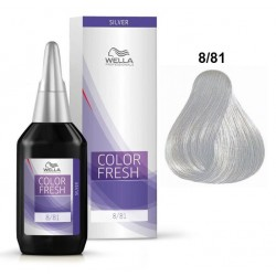 WELLA PROFESSIONAL COLOR FRESH COLORACION SEMIPERMANENTE 8/81 RUBIO CLARO PERLA CENIZA 75 ML