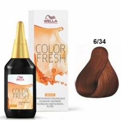 WELLA PROFESSIONAL COLOR FRESH COLORACION SEMIPERMANENTE 6/34 RUBIO OSCURO DORADO COBRIZO 75ML danaperfumerias.com/es/