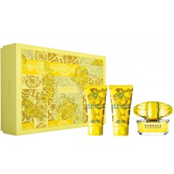 VERSACE YELLOW DIAMOND EDT 90 ML + B/L 150 ML + S/G 150 ML SET REGALO