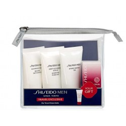 SHISEIDO MEN CLEANSING FOAM 30ML+CLEANSING SCRUB 30ML+HYDRO GEL 30ML+ULTIMUNE INFUSING 5ML SET VIAJE