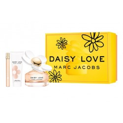 MARC JACOBS DAISY LOVE EDT 100 ML + BODY LOCION 75 ML + MINI EDT 10 ML SET REGALO