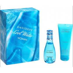 DAVIDOFF COOL WATER WOMAN EDT 30 ML + B/L 75 ML SET REGALO