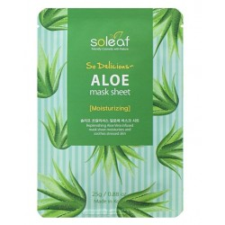 SOLEAF SO DELICIOUS ALOE MASK SHEET 25GR
