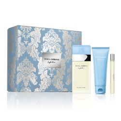 comprar perfumes online DOLCE & GABBANA LIGHT BLUE EDT 100 ML +MINI 10 ML + B/LOTION 100 ML SET REGALO mujer