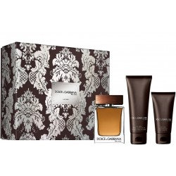 comprar perfumes online hombre DOLCE & GABBANA THE ONE MEN EDT 100ML + A/S 75 ML + GEL 50 ML SET REGALO