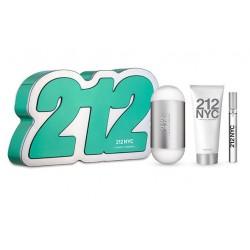 comprar perfumes online CAROLINA HERRERA 212 EDT 100 ML + B/L 75 ML + MINI 10 ML SET REGALO mujer