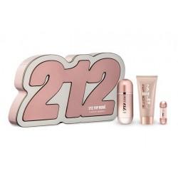 comprar perfumes online CAROLINA HERRERA 212 VIP ROSE EDP 50 ML VAPO + B/L 75 ML + MINI 5 ML SET REGALO mujer