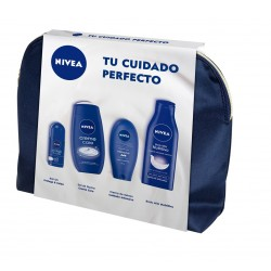 NIVEA BODY MILK 400 ML + DEO ROLL ON 50 ML + GEL 250 ML + CREMA MANOS 100 ML + NECESER SET REGALO