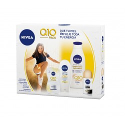 NIVEA Q10 BODY LOCIÓN 400 ML + CREMA MANOS 100 ML + MASCARILLA 15 ML + DEO SPRAY 50 ML SET REGALO