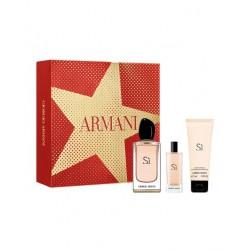 comprar perfumes online GIORGIO ARMANI SI EDP 100 ML + B/L 75 ML + MINI 15 ML SET REGALO mujer