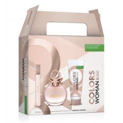 comprar perfumes online BENETTON COLORS ROSE EDT 50 ML + BODY MILK 75 ML + MINI EDT 10 ML SET REGALO mujer