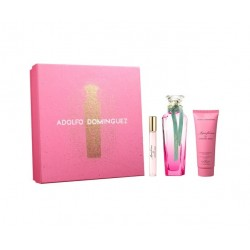 ADOLFO DOMINGUEZ AGUA FRESCA GARDENIA MUSK EDT 120 ML + B/L 75 ML + MINI 10 ML SET REGALO