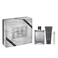 comprar perfumes online hombre JIMMY CHOO MAN EDT 100 ML + A/S LOTION 100 ML + MINI 7.5 ML SET REGALO