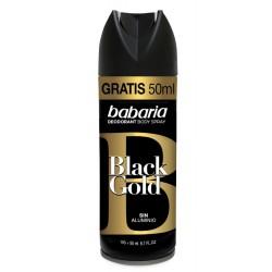 BABARIA DESODORANTE SPRAY BLACK GOLD 200ML