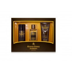 ALVAREZ GOMEZ BARBERIA COLONIA 150 ML + DEO 150 ML + GEL BAÑO HIDRATANTE 230 ML SET REGALO